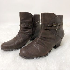 Yuu Marshey Brown Ankle Booties Boots Size 8.5